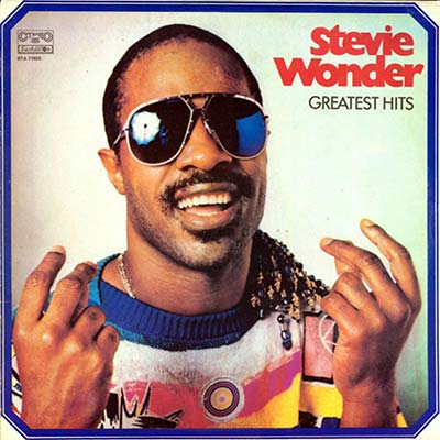 Stevie Wonder Greatest Hits record cover 1985