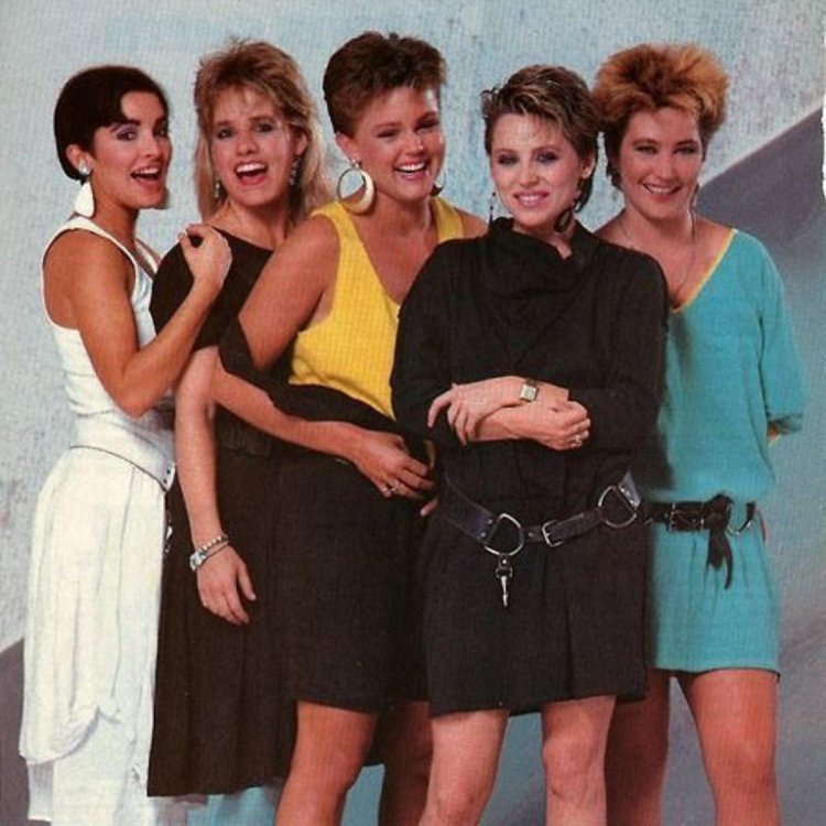 80's pop group The Go-Go's promo image circa 1980's