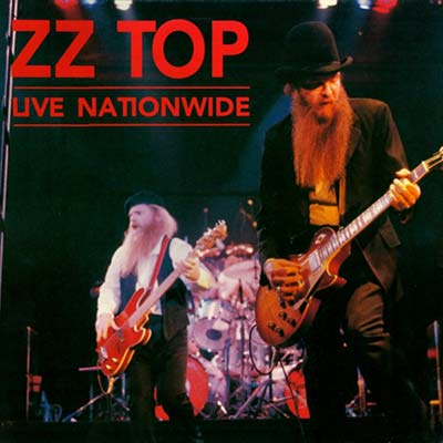 ZZ Top Live Nationwide record cover