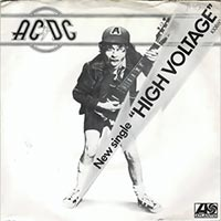 AC/DC - High Voltage record cover 1975