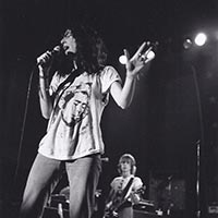 Patti Smith performing at Cornell University, 1978