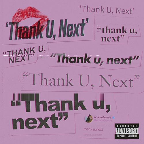 Ariana Grande thank u, next record cover