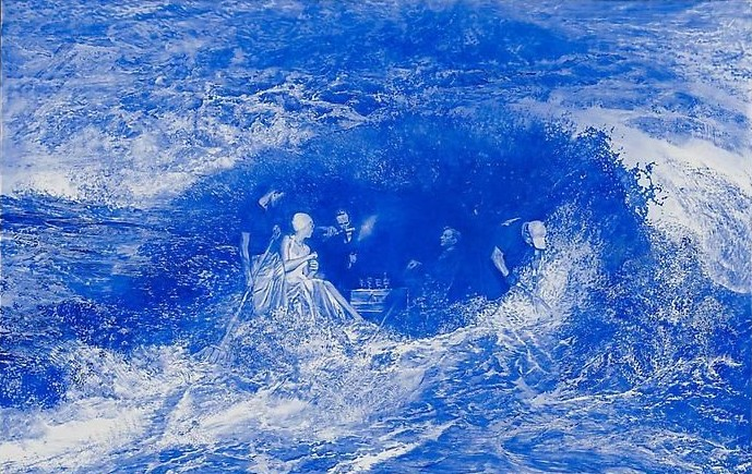 #1 Mark Tansey Blue Masterpiece!