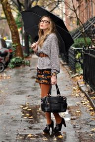 rainy street style