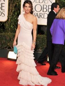 sandra bullock white dress