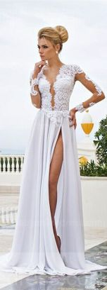 v neck prom gown