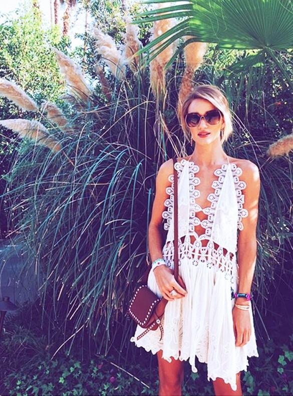 crocheted white dress