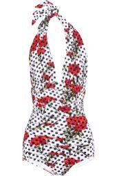 dolce gabbana halterneck swimsuit $695