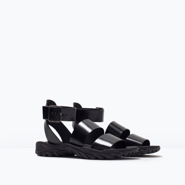 ankle strap track- sole sandals 29.99