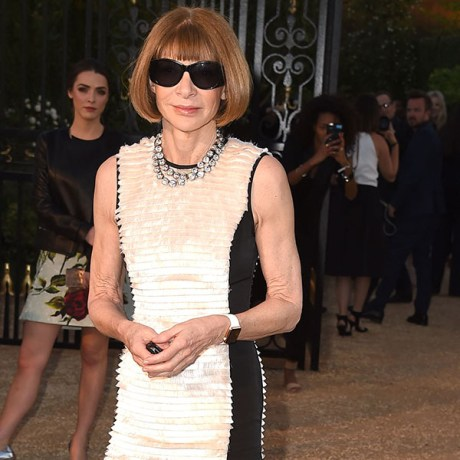 "LOS ANGELES, CA - APRIL 16: Anna Wintour attends the Burberry ""London in Los Angeles"" event at Griffith Observatory on April 16, 2015 in Los Angeles, California. (Photo by Steve Granitz/WireImage)"
