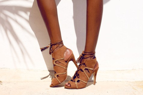 lovely suede lace up heels