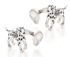 silver dalmatian cufflinks 195$