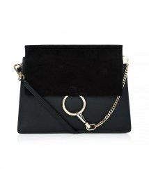 chloe faye leather and suede shoulder bag 1716$