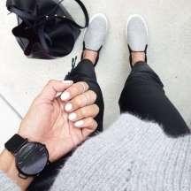 slip on grey