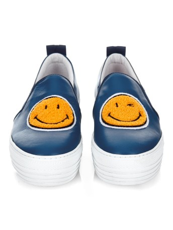 joshua sanders smiley face leather platforms