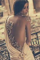 julia kontogruni bridal 2015 wedding one shoulder sheer emboidered beaded back fit