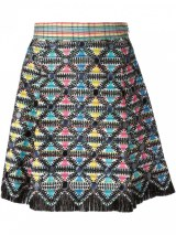 marco de vincenzo embellished and embroidered flare skirt