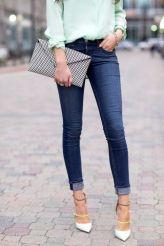 skinny jeans -cuffed