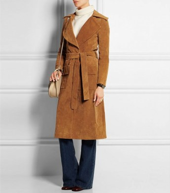 frame denim le buster suede coat