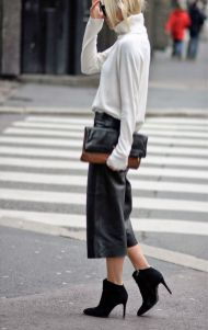 culotte with ankle boots