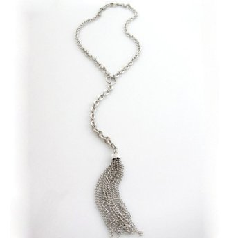 heavy chain tassel y necks