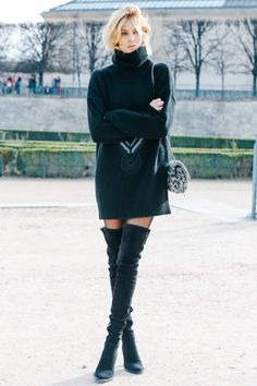 street looks thigh high boots