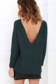 fireside sparks backless sweater 52