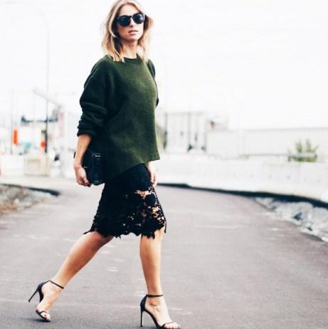 zara sweater and chicwish skirt