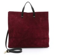 clare v suede simple tote