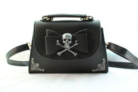 skull and crossbones mini handbag clutch