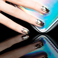 glass nails created with pre cut shapes