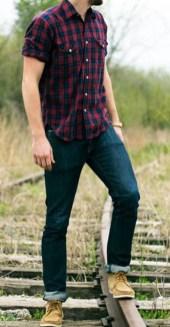 Plaid-shirt-for-men styl