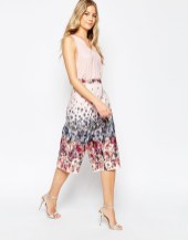 asos occasion printed culottes