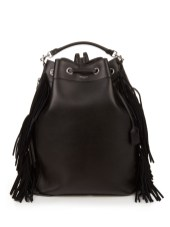 saint laurent fringed leather backpack