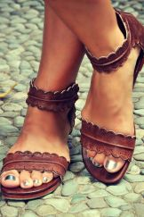 brown summer sandals, metallic toenail polish stitch fix shoes