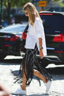 dramatic fringe skirt