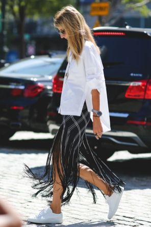 dramatic fringe skirt