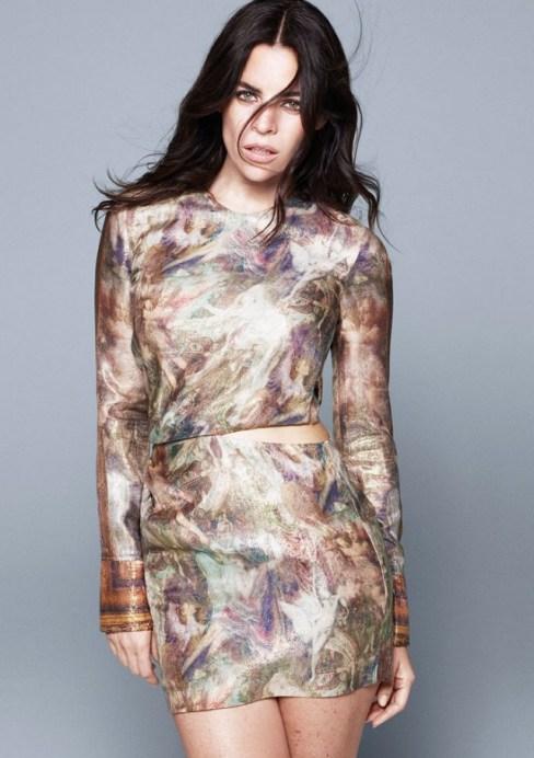 lyocell and silk dress