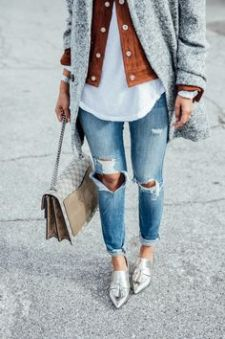 layering and loafers