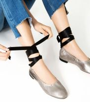 leather ballet flats zara collection