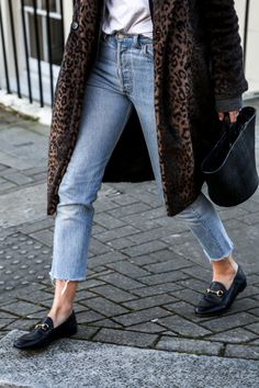 loafers with animal print