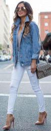 stylish oversized denim jacket