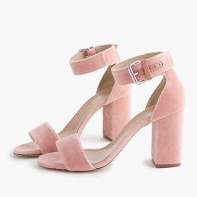 velvet strap sandals j.krew