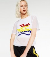 zara text tulle t shirt