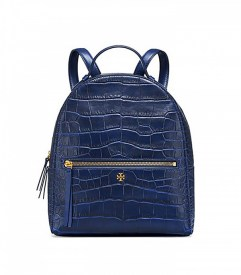 tory burch croc embossed mini backpack