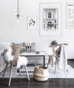 living room white tones