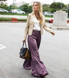 silk wide- leg trousers