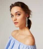 uterque long fish earrings
