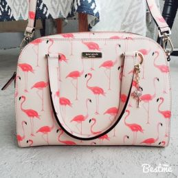 kate spade flamingo printed bag