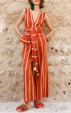 milla sleeveless embroidered jumpsuit by mochi